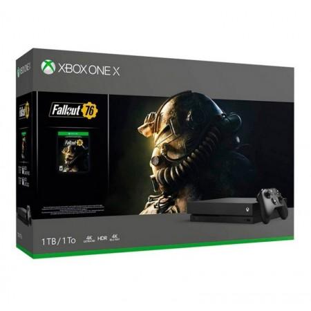 CONSOLE XBOX ONE X 1TB COM JOGO FALLOUT 76 - PRETO