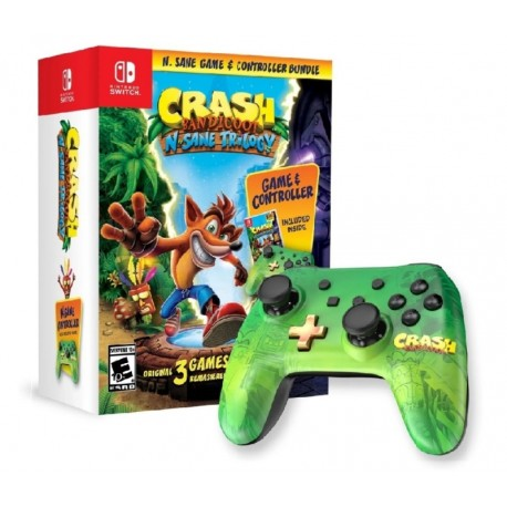 CONTROLE PRO CRASH BANDICOOT: N. SANE TRILOGY BUNDLE - NINTENDO SWITCH