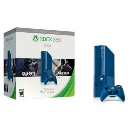 CONSOLE XBOX 360 SUPER SLIM  500GB AZUL COM 2JOGOS