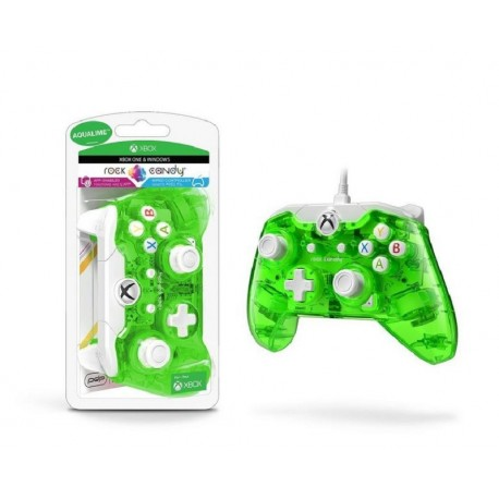 CONTROLE PDP WIRED ROCK CANDY PARA XBOX ONE, WINDOWS - VERDE