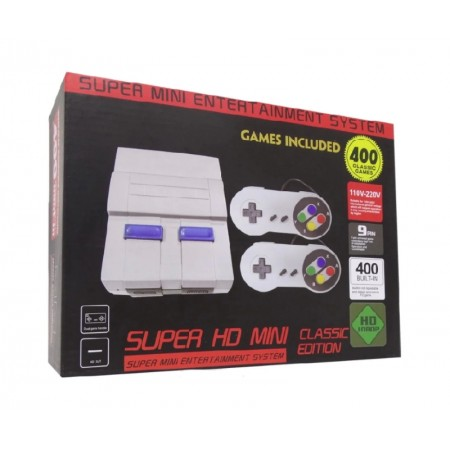 CONSOLE MINI GAME SUPER MINI HD CLASSIC EDITION COM 400 JOGOS