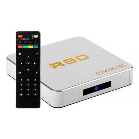 RECEPTOR TV BOX SMART R90 8K 32GB / 4GB RAM / ANDROID 9.0 - BRANCO