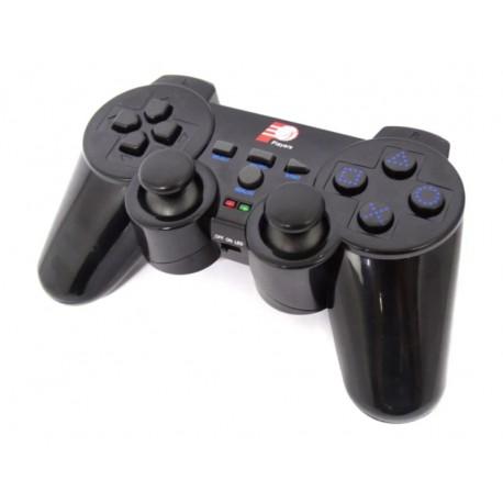 CONTROLE PS2 SEM FIO COM BATERIA RECARREGÁVEL - PRETO