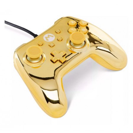 CONTROLE POWERA WIRED CHROME MARIO GOLD EDITION - NINTENDO SWITCH