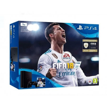 CONSOLE SONY PLAYSTATION 4 SUPER SLIM 1TB  COM FIFA 2018 - 2115B