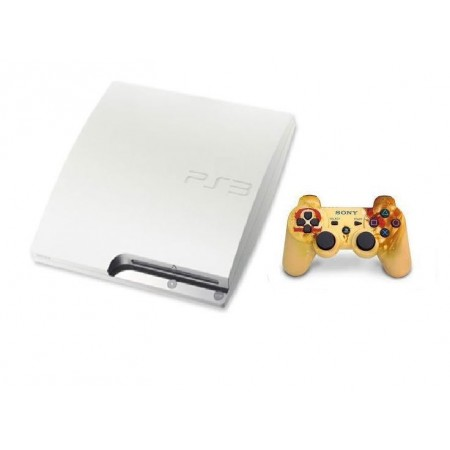 CONSOLE SONY PLAYSTATION 3 SLIM 500GB RECONDICIONADO BRANCO COM CONTROLE GOD OF WAR