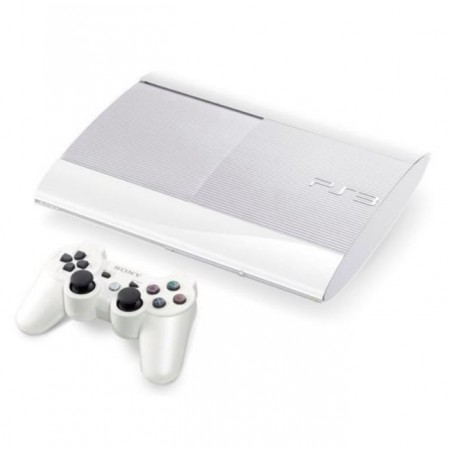 CONSOLE SONY PLAYSTATION 3 SUPER SLIM 500GB BRANCO RECONDICIONADO