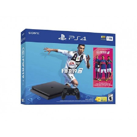 CONSOLE SONY PLAYSTATION 4 SUPER SLIM COM FIFA 19 1TB MODELO 2215B