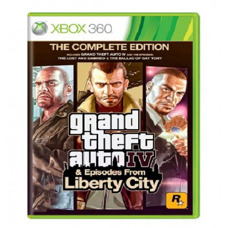 JOGO GRAND THEFT AUTO IV & EPISODES FROM LIBERTY CITY GTA XBOX 360
