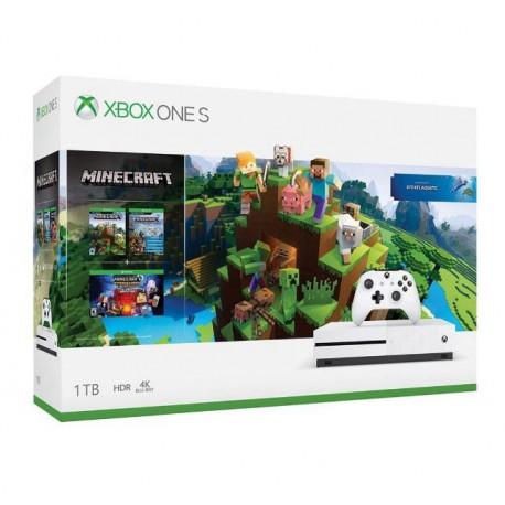 CONSOLE XBOX ONE S 1TB BUNDLE MINECRAFT
