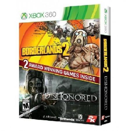 JOGO BORDERLANDS 2 & DISHONORED BUNDLE XBOX 360