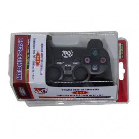 CONTROLE SEM FIO PLAY GAME PARA PS3 PS2 E PC BLISTER