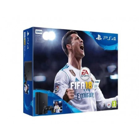 CONSOLE SONY PLAYSTATION 4 SUPER SLIM 500GB COM FIFA 18