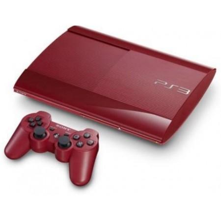 CONSOLE SONY PLAYSTATION 3 SUPER SLIM 500GB COM 74JOGOS VERMELHO