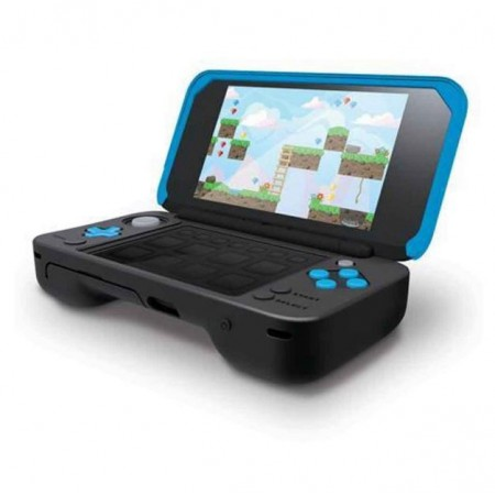 2DS XL COMFORT GRIP BLUE BLACK 4278