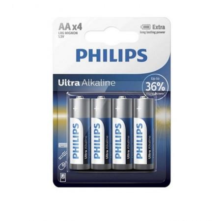 PILHA PHILIPS ULTRA ALKALINA LR6-E4B/97 AA COM 4 UNIDADES