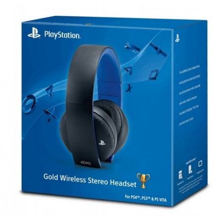 HEADSET GOLD WIRELESS PS4, PS3 E PS VITA - PRETO