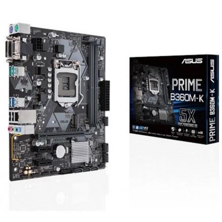 PLACA MAE ASUS (1151) B360M-K VGA/ DVI/ M.2 PRIME