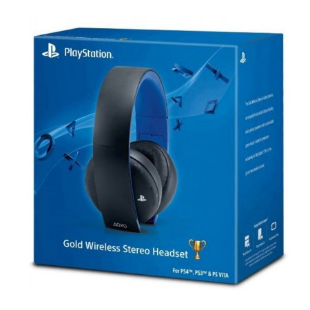 HEADSET GOLD WIRELESS PS4 E PS3