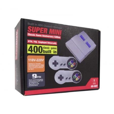 CONSOLE SUPER MINI CLASSIC GAME ANIVERSARY EDITION COM 400 JOGOS