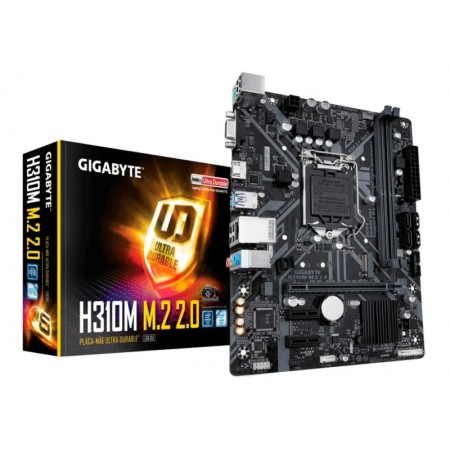 PLACA MÃE GIGABYTE H310M M.2 2.0 / SOQUETE 1151 / DDR4 2666