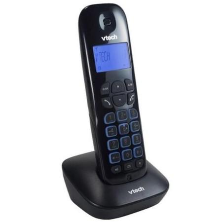 TELEFONE SEM FIO VTECH COM 1 BASE/BINA/SECRETARIA ELETRÔNICA/AUTO FALANTE/2V- PRETO(VT685C