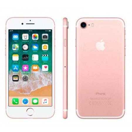 CELULAR APPLE IPHONE 7 A1778/1660 LL 128GB/ 4G/ TELA 4.7/ CÂM 12MP- ROSE(SÓ APARELHO/ SWAP