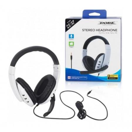 HEADPHONE DOBE TY-0820 PS5 / PS4 / X ONE / PC - BRANCO E PRETO