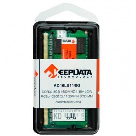 MEMÓRIA RAM PARA NOTEBOOK 8GB / DDR3L / 1X8GB / 1600MHZ - (KD16LS11/8G)