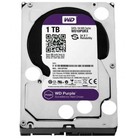 HD WESTERN DIGITAL 1TB / SATA3 / PURPLE - (WD10PURZ)