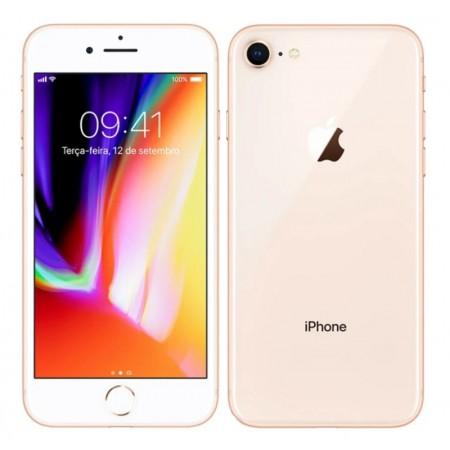 CELULAR APPLE IPHONE 8 64GB / 4G LTE / TELA 4.7 / CÂM 12MP- GOLD(SÓ APARELHO / SWAP)