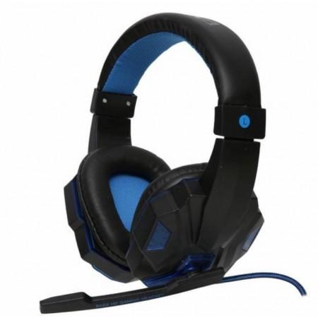 Headset Satellite AE-327A com microfone - Azul