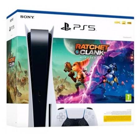 Console Sony Playstation 5 825GB SSD/ 8K/ 110V - Branco + Jogo Ratchet e Clank -(CFI-1016A