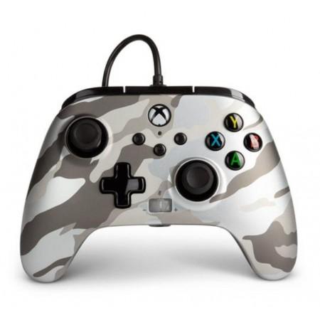Controle PowerA Enhanced Wired Metallic White Camo para Xbox - (PWA-A-2550)