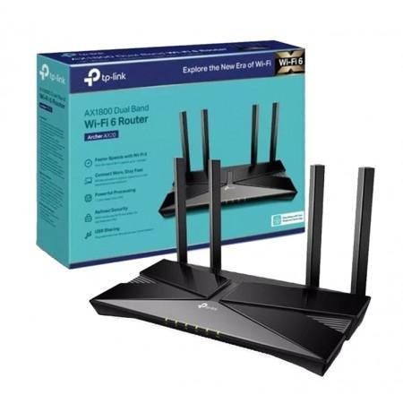 Roteador TP-Link Archer AX20 Router AX1800 Wifi 6 Banda Dupla Gigabit