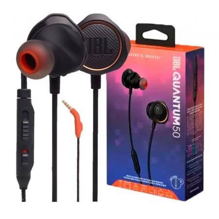 Fone de Ouvido JBL Quantum 50 Com fio / Com Microfone - Black