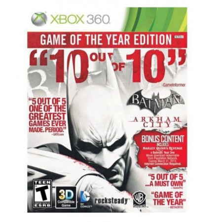 JOGO BATMAN ARKHAM CITY GAME OF THE YEAR XBOX 360