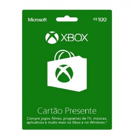 CARTÃO PRESENTE R$100 XBOX LIVE
