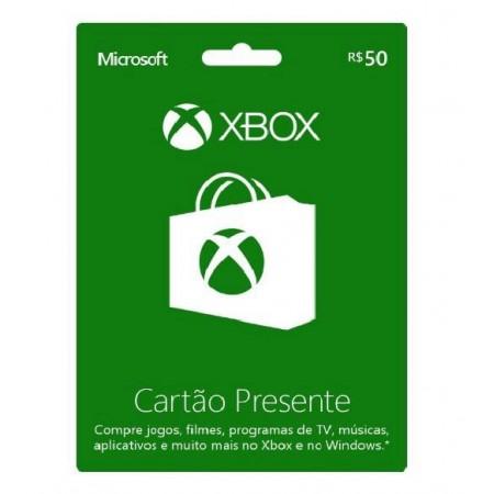 CARTÃO PRESENTE R$50 XBOX LIVE