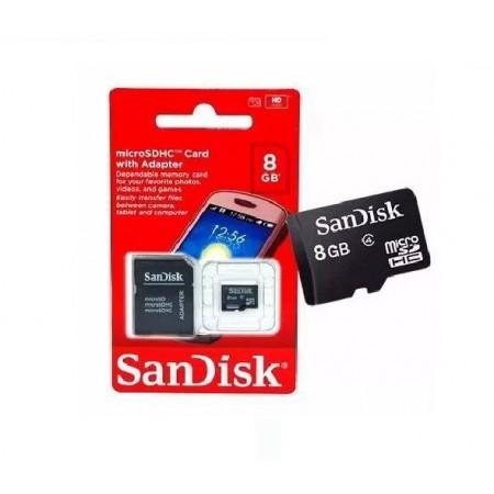 CARTÃO DE MEMÓRIA SANDISK MICRO SDHC 8GB COM ADAPTADOR