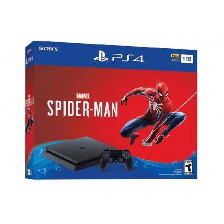 CONSOLE SONY PLAYSTATION 4 SUPER SLIM 1TB COM SPIDER MAN PRETO