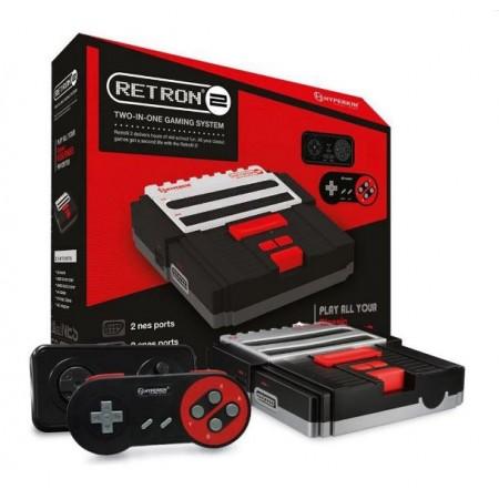 CONSOLE HYPERKIN RETRON 2 PRETO NES E SNES 5932