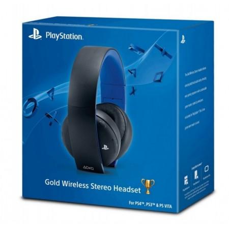 HEADSET GOLD WIRELESS PS4, PS3 E PS VITA - PRETO